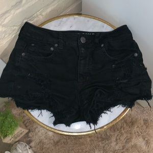 American Eagle Distressed High-Rise Shorts